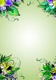 Fond floral d'aquarelle pour des cartes de voeux Photo stock