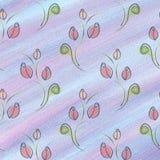 Fond floral d'aquarelle texturisée tirée par la main Calibre bleu de vintage avec des roses et des éléments décoratifs Image stock