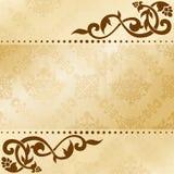 Fond floral d'arabesque dans des sons de sépia illustration libre de droits