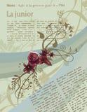 Fond floral d'article illustration stock