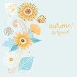 Fond floral d'automne Photographie stock libre de droits