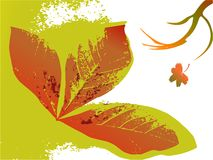 Fond floral d'automne Illustration Stock