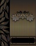 Fond floral d'or de cru. Photos libres de droits