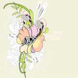Fond floral d'été Photos stock