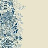 Fond floral dans des couleurs bleues Photo libre de droits