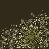 Fond floral dans des couleurs foncées Image libre de droits