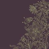 Fond floral dans des couleurs foncées Photos libres de droits