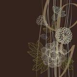 Fond floral dans des couleurs foncées Image stock