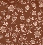 Fond floral de Brown de cru Image stock
