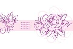 Fond floral de carte Photos libres de droits