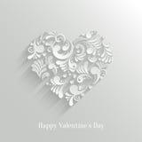 Fond floral de coeur d'Absrtact Photo libre de droits
