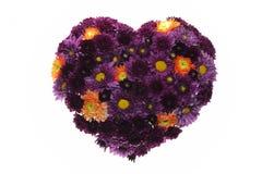 Fond floral de coeur de Valentine. Photo libre de droits