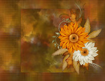 Fond floral de couleur d'automne Photos stock