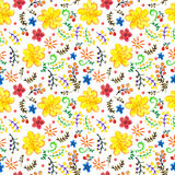 Fond floral de couleur sans couture lumineuse d'aquarelle Photographie stock libre de droits