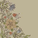 Fond floral de cru Photographie stock