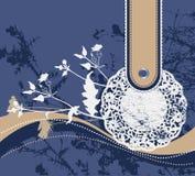 Fond floral de cru avec la vieille serviette. Photos libres de droits