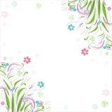 Fond floral de cru Beau cadre avec Photos libres de droits