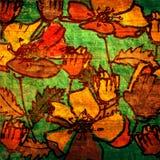 Fond floral de cru d'art illustration libre de droits