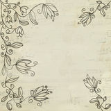 Fond floral de cru de musique illustration de vecteur