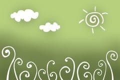 Fond floral de dessin Image libre de droits