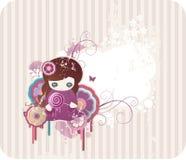 Fond floral de dessin animé Images stock