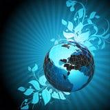 Fond floral de la terre Photos libres de droits