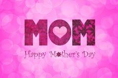 Fond floral de mères des textes heureux de jour Photographie stock libre de droits