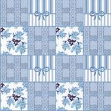 Fond floral de modèle de dentelle sans couture de patchwork Images stock