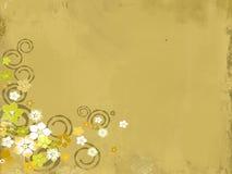 Fond floral de peinture grunge illustration de vecteur