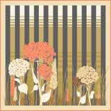 Fond floral de rayure de hortensia illustration libre de droits