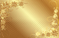 Fond floral de trame d'or Image stock