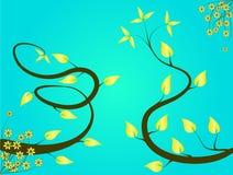 Fond floral de turquoise Image libre de droits