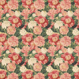 Fond floral de type de cru avec les fleurs roses Photos libres de droits