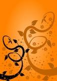 Fond floral de ventilateur orange Photo stock