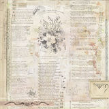 Fond floral de vintage avec le texte Photos libres de droits