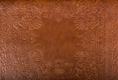 Fond floral en cuir de modèle Images libres de droits