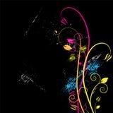 Fond floral et grunge Image stock