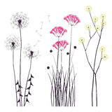 Fond floral, fleurs de floraison illustration de vecteur