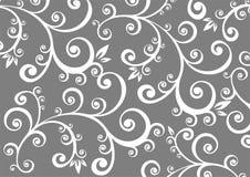 Fond floral gris Photographie stock libre de droits