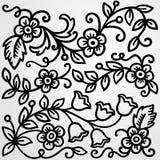 Fond floral gris illustration de vecteur