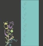 Fond floral gris d'extrémité bleue Image libre de droits