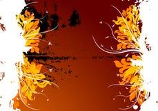 Fond floral grunge de vecteur abstrait Photos libres de droits