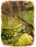 Fond floral grunge - vert illustration stock