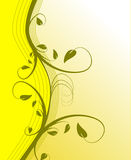 Fond floral jaune Photo stock