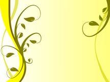 Fond floral jaune Images libres de droits