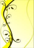 Fond floral jaune Photos libres de droits