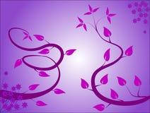 Fond floral mauve Images libres de droits