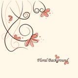 Fond floral mignon image libre de droits