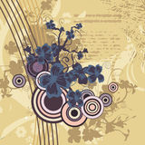 Fond floral moderne illustration libre de droits