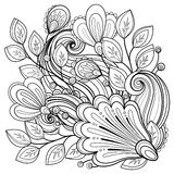 Fond floral monochrome de vecteur illustration libre de droits